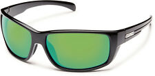 SUNCLOUD Milestone Sunglasses Black  / POLARIZED Green Mirror - s15