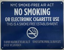 Nyc Smoke Free Act Sign No Smoking Or Electric Cigarette Useref0420