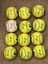 "12 single game used Dudley Thunder Sy Usssa 12 "" inch softballs Sy 12 Rf 40"