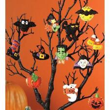 "Bucilla 2½""x2"" Felt Applique Kit - Halloween Ornaments Set of 12"