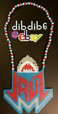 Jauz perler kandi necklace, rave, EDC, PLUR, EDM, art, hama, sprite