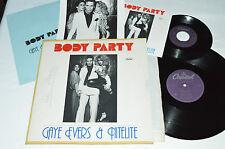 "GAYE EVERS & NITELITE Body Party 12"" Single with 45 w/PS & Press Kit Photo DISCO"