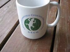 GECO GPS Environmentally Conscious Organization Coffee Mug New Old Stock