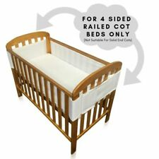 Breathe Easy Air Mesh 4 Sided Unisex Nursery Breathable Cot Bed Liner Bumper Set