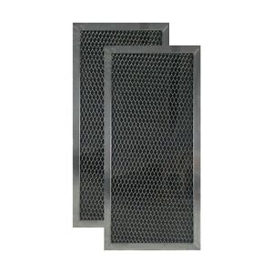 2-Pack Compatible Whirlpool 8169645 Microwave Hood Charcoal Carbon Filter Set