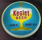 HA30 RARE! VINTAGE LIGHTED KEGLET BEER SIGN - VERY NICE! 13.5X13.5X3.5
