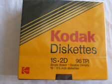 Kodak 5 1/4 5.25 Single Sided Double Density Floppy Disks 10 pack 96 TPI 1s 2D