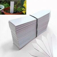 100 X Plastic Plant Labels Sticks W/ Pen Garden Planter Tag Tray Pot Marker Seed