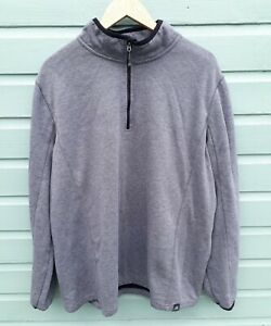 Zeroxposur Mens' Fleece 1/4 Zip Sweatshirt Size XXL Grey Soft Sportswear VGC