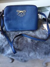 Kate Spade New York Blue Small Leather Trim Bag