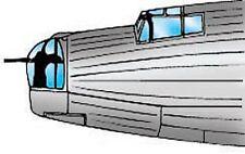 Wellington Mk X Vacuform Canopy, Glazing for Matchbox (1/72 Squadron 9172)