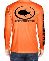 Salt Addiction long sleeve microfiber performance dri fishing t shirt 30+ UV