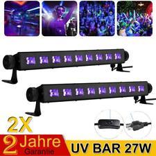2X UV BAR 27W LED Schwarzlicht Bühnenbeleuchtung Lichteffekt Disco Wall Lampe