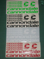 CANNONDALE Cycling Stickers Decals Custom Sizes Colours Bike Frame Fork MTB Road
