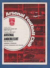 Orig.PRG   ICFC / UEFA Cup  1969/70  FINALE   ARSENAL FC - RSC ANDERLECHT !! TOP