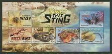 2014 Australia Things That Sting Mini Sheet. Mnh.