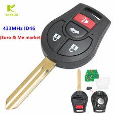 3+1Button Remote Key Fob 433MHz ID46 for Nissan Armada Altima 350Z Maxima Sentra