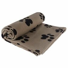 """New listing Pet Blanket Large for Dog Cat Animal 60"""" x 40"""" Inches Fleece Black Paw Grey"""