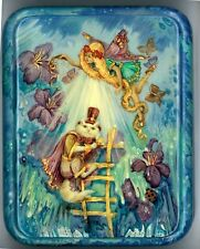 """The Magic Cat"" by Mochalova, with Fairies, Butterflies and Flowers of Fedoskino"