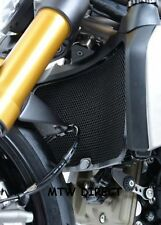R&G RACING BLACK ALUMINIUM Radiator Guard Cover  Ducati Monster 1200 2014 - 2018