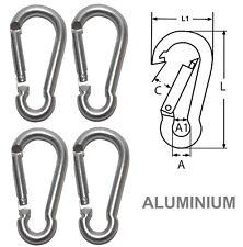 Mousqueton Aluminium Gris Clair 80mm ( Lot de 4 )