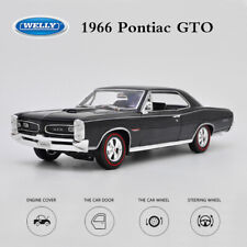 NEW 1:18 Scale Vehicle Model 1966 Pontiac GTO Black Car Diecast for Collections