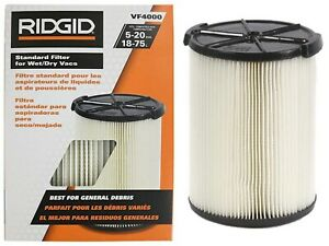 Ridgid Standard Wet/dry Vac Filter Vf4000 (White, 1) (Original Version)