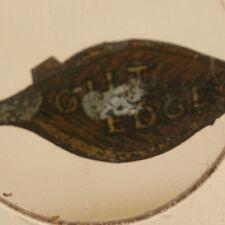 Vintage Guilt Edge Tin Tobacco Tag