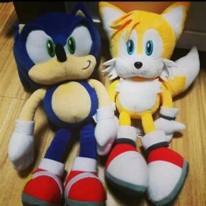 "NEW Authentic GAME THE HEDGEHOG Classic Tails Soft Plush Toy 15"" 2pcs"