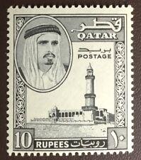 Qatar 1961 10r Black SG37 MNH
