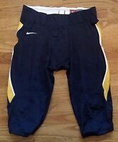 New Nike Men's L Crack Back Football Game Pants Navy / Gold MSRP $80