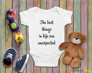 Cute Baby Announcement Quarantine Bodysuit, Social Distancing, Pregnancy Reveal