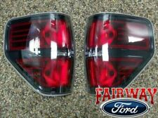 09 thru 14 F-150 OEM Genuine Ford SVT Raptor Black Tail Lights Lamps (Pair of 2)