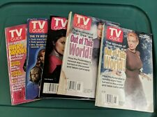Set Of 5 TV Guide Star Trek Issues 90s The Next Generation Voyager Deep Space 9