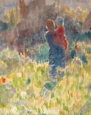 Mother and Child by Emile Claus - Impressionism Summer Fields 8x10 Print 1225