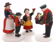 The Toy Peddler #56162 set of 3 Retired Alpine Village Dept 56