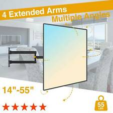 """TV Wall Mount Swivel Articulating Arms LED LCD Flat Screen 14""""21""""34""""37""""42""""55"""""""