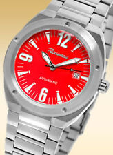 ROUSSEAU MOTIF MENS RED 21J AUTOMATIC WATCH NEW $895