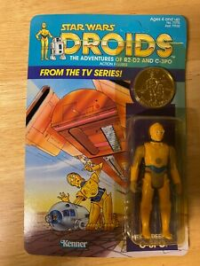Star Wars Droids C-3PO Figure - 1985 Kenner 12-Back - Unopened Unpunched MOC