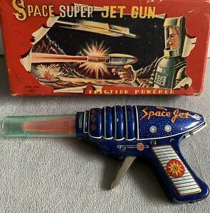 Space Jet Gun Japan KO Yoshiya Friction 1960's Rare ROBOTS SPACE raygun laser