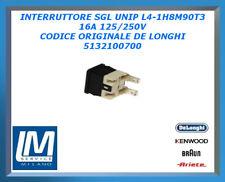 INTERRUTTORE SGL UNIP L4-1H8M90T3 16A 125/250V ORIGINALE DE LONGHI 5132100700