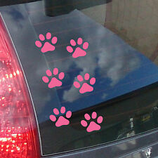 Pink Paw Print Car Stickers - Pack of 12 Paw print shaped decals