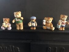 Vintage - Lucy & Me - Lucy Riggs - Enesco Teddy Bear Figurines - Lot of 5