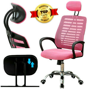 Executive Ergonomic Office Mesh Chair Adjustable Comfy Seat Swivel Computer Desk
