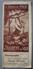 Ancien dépliant touristique  Guide de SAINT LAURENT DU VAR Saint-Laurent-du-Var
