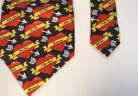 Hearts & Arrows Mens Silk Necktie Valentines Day Keith Daniels Neck Tie New