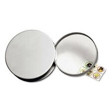 5X Desk Magnifier Magnifying Glass Table Top Silver Paperweight Glass Lens