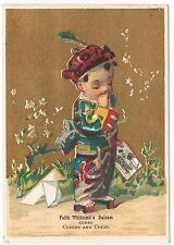 Faith Whitcomb's Balsam Asian Boy Mail Victorian Trade Card Business