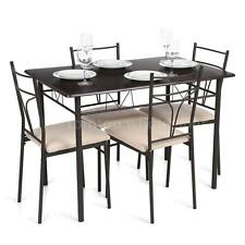 5 Pieces Dining Table Set Breakfast Furniture 4 Chairs & 1 Table Kitchen Dinette