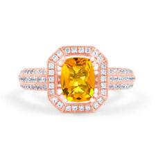 Anillos de joyería anillo con piedra de compromiso diamante
